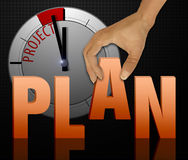 Plan words concept Royalty Free Stock Photography