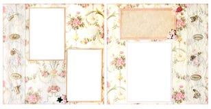 Plan X12 der Hochzeits-Einklebebuch-Seiten-12 Stockfotos