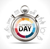 Plan your day. Work and life concept royalty free illustration