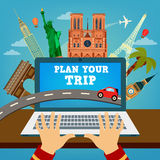 Plan your Trip. Travel Banner. Vacation Planning. Plan your Trip. Travel Banner. Time to Travel. Vacation Planning. Travel Industry. Modern Travel Technologies Stock Photography