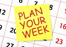 Plan Your Week Royalty Free Stock Image