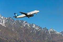 Plana Air New Zealand Royaltyfri Foto