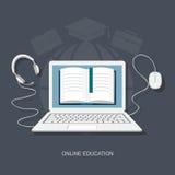 Plana beståndsdelar av utbildning Royaltyfri Bild