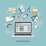 Plana beståndsdelar av utbildning Arkivbild