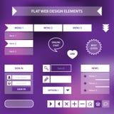 Plana beståndsdelar för rengöringsdukdesign Royaltyfria Bilder