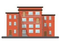Plana bostads- byggnader för landskap för tegelstenhusstad Royaltyfri Fotografi