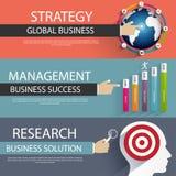 Plana designbegrepp för affärsstrategi och idérik process Royaltyfri Foto
