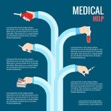 Plana designbegrepp för medicinsk vård Arkivfoton