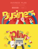 Plana designbegrepp för vektor för affärsplan stock illustrationer