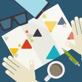 Plana designbeståndsdelar Arkivfoton