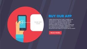 Plana designillustrationbegrepp för mobil email Arkivfoto
