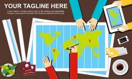 Plana designillustrationbegrepp för resa Royaltyfri Foto