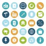 Plana designsymboler för affär Arkivbilder