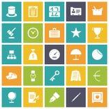 Plana designsymboler för affär Royaltyfri Fotografi