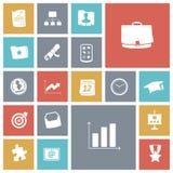 Plana designsymboler för affär och finans Royaltyfri Fotografi