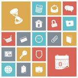 Plana designsymboler för användargränssnitt Fotografering för Bildbyråer