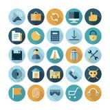 Plana designsymboler för användargränssnitt Arkivfoton