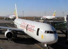 Plana Ethiopian Airlines Royaltyfria Bilder