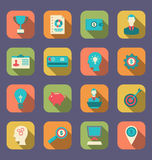 Plana färgrika symboler av objekt för rengöringsdukdesign Royaltyfri Fotografi