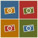 Plana fotokameror Arkivfoton