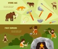 Plana horisontalbaner för historia stock illustrationer
