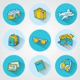 Plana loppsymboler för rengöringsduk- och mobilapplikationer vektor illustrationer