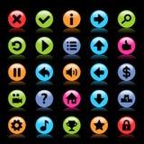 Plana modiga symboler stock illustrationer