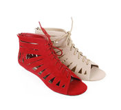 plana sandals Royaltyfri Bild
