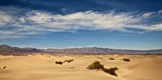 Plana sanddyn Death Valley för Mesquite Fotografering för Bildbyråer