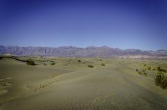Plana sanddyn för Mesquite, Kalifornien Arkivfoto