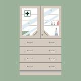 Plana skåp för Medecine Arkivfoto