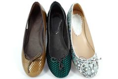 plana skor för balett Royaltyfria Foton