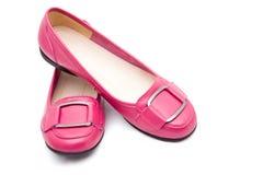 plana skor för kvinnlig Royaltyfri Fotografi