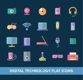 Plana symboler vektor illustrationer