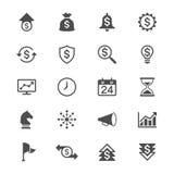 Plana symboler för affär Royaltyfri Fotografi