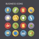 Plana symboler för affär och finans Fotografering för Bildbyråer
