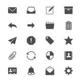 Plana symboler för Email Royaltyfri Foto