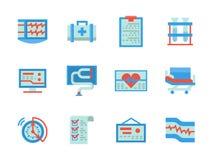 Plana symboler för färgdesignsjukvård Royaltyfri Bild