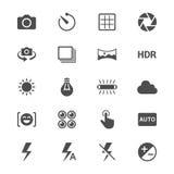 Plana symboler för fotografi Arkivfoton