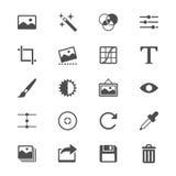 Plana symboler för fotografi Royaltyfri Bild