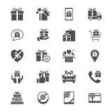 Plana symboler för gåva Arkivfoto