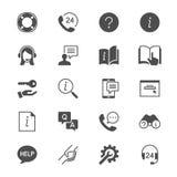 Plana symboler för hjälp och för service Arkivfoton