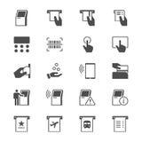 Plana symboler för kiosk Arkivfoton