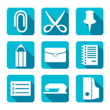Plana symboler för kontor - illustration Royaltyfri Foto