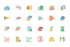 Plana symboler 4 för kortbetalningvektor Royaltyfria Foton