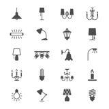 Plana symboler för ljus Arkivfoto