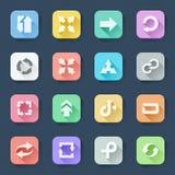 Plana symboler för pil Arkivbilder
