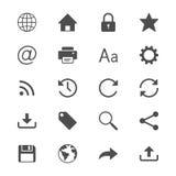Plana symboler för rengöringsduk Royaltyfri Fotografi