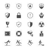 Plana symboler för säkerhet Royaltyfria Foton