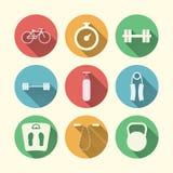 Plana symboler för sport Royaltyfria Bilder